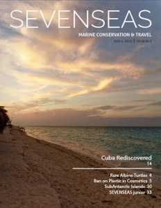 cuba july 2015 sevenseas media issue cover marine conservation and travel