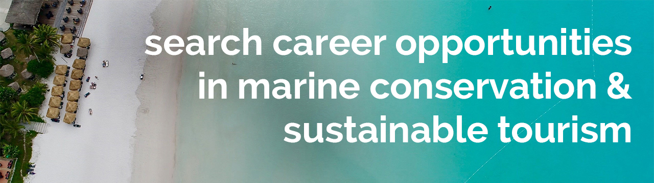 Ocean jobs banner for marine conservation and sustainable tourism opportunities