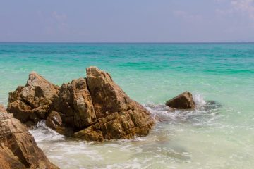 coast al rocks in the ocean