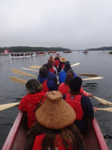 canoeing with students in the great bear sea