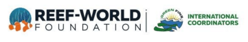 reef world and green fins logo