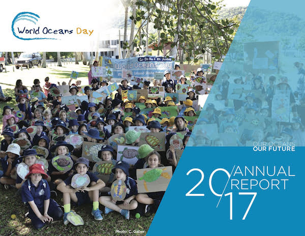 World Oceans Day annual report cover