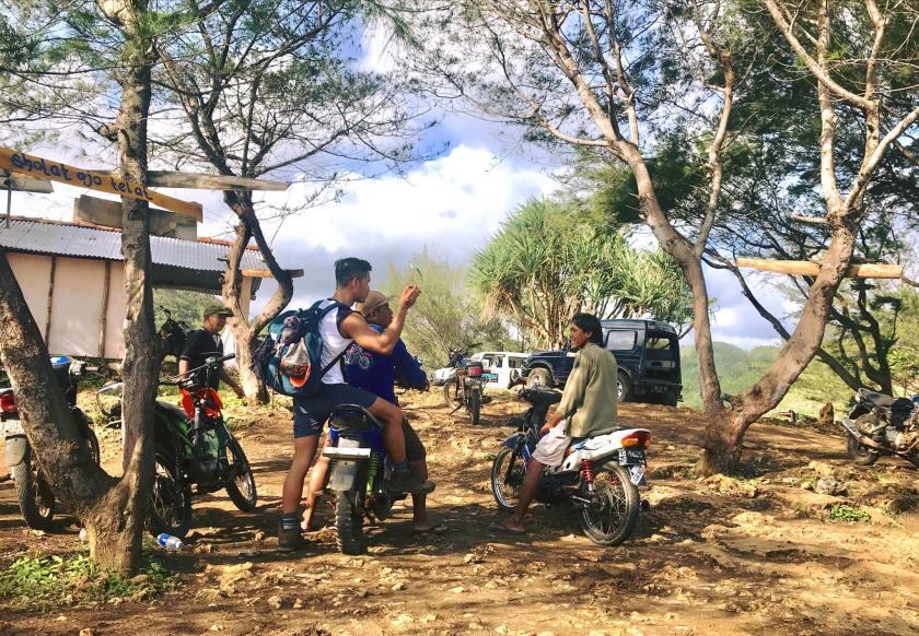 Em Surasak travel blogger for sevenseas media on a motorcycle ride
