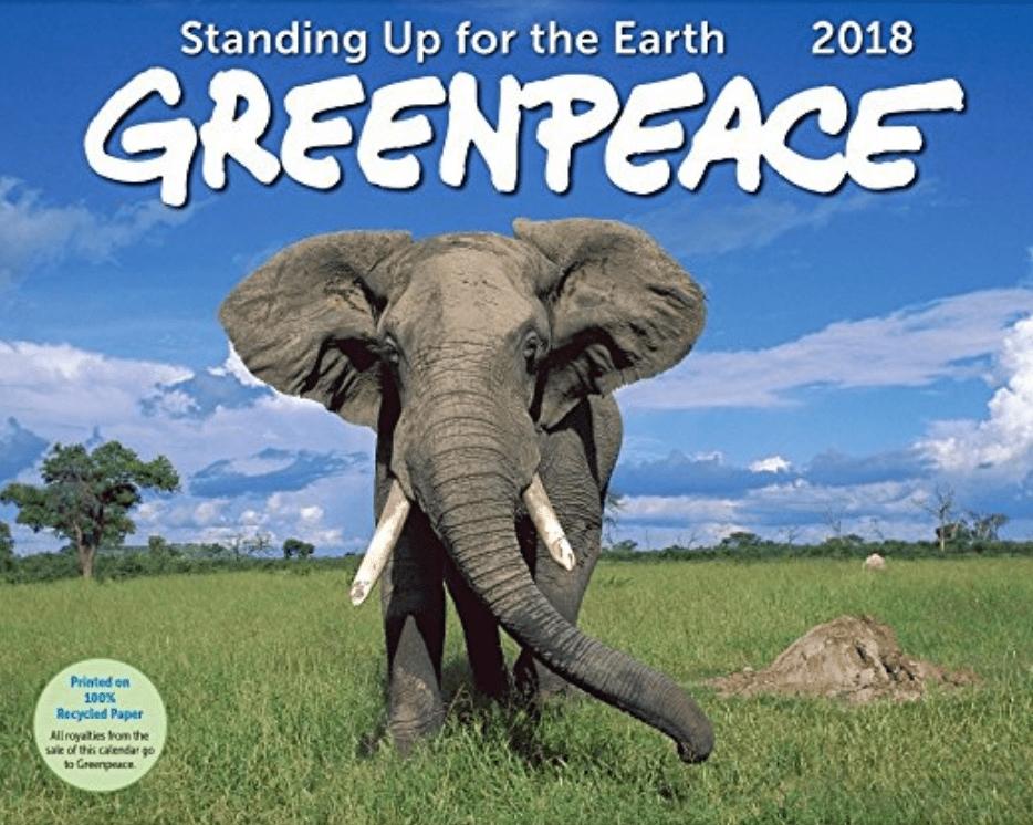 greenpeace 2018 calendar