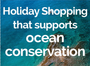 holiday shopping for ocean conservation graphic