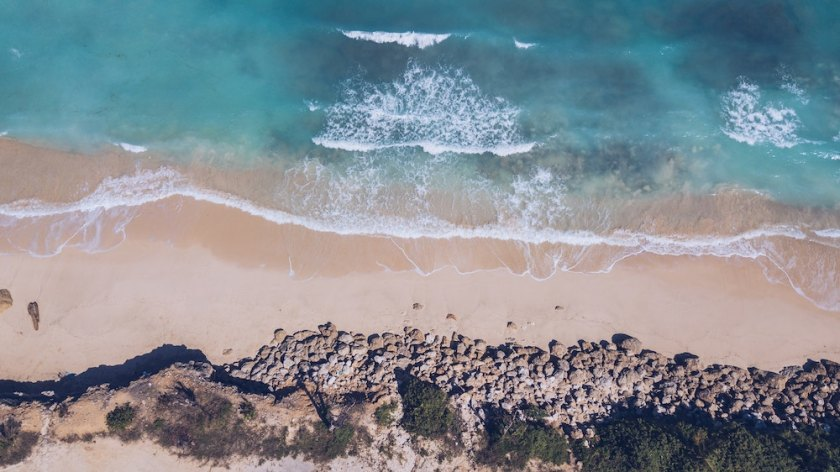 areal view of beach in bali
