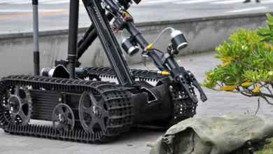 Photo of Bomb exploration robot in the country, it does not need to operate with remote