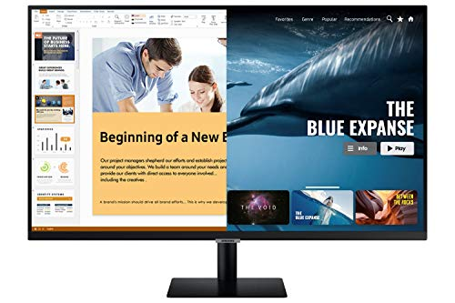 Samsung 32 inch (81.28 cm) M5 Smart Monitor with Netflix, YouTube, Prime Video and Apple TV Streaming (LS32AM500NWXXL, Black)
