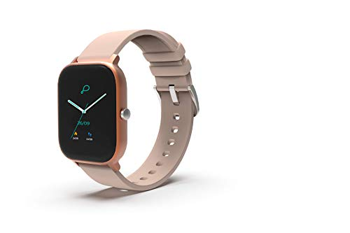 Pebble Pace Smart Watch with Full Touch Dynamic Colour Display, Multiple Sports Mode, HR, Sleep and BP Monitoring (Rose Gold) for Women