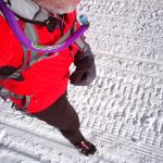 Winter Trail Running Overhead view