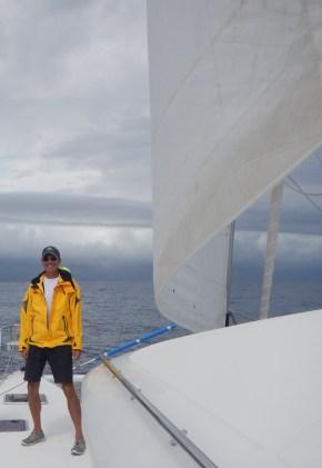 Completing his circumnavigation