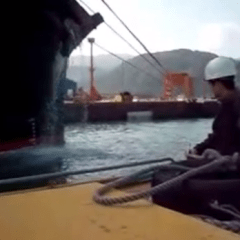 Draft Survey, Reading the Draft by Boat (video)