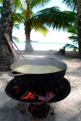Seafood soup - rondon - at Pearl Cayes