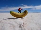 Banana surfing, Salar de Uyuni