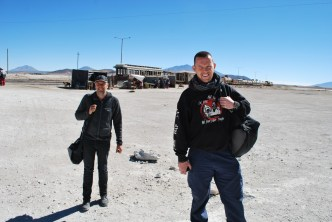 Crossing the Chile-Bolivia border, Ollagüe