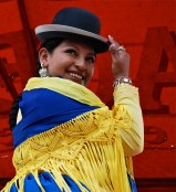 Cholita fashion show, El Alto, La Paz