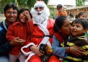 Bolivia: Giovanna, Marcelo, Zoe and William (Santa played by Doug)