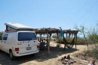 Beach camp, Zorritos, Peru