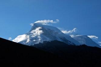 View from the van, Llanganuco mountain lodge, Cordillera Blanca, Peru