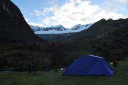 First night camping on the Santa Cruz trek, Cordillera Blanca, Peru