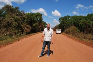 Nearly at the end of the bumpy road! Driving to San Jose de Chiquitos, Bolivia.