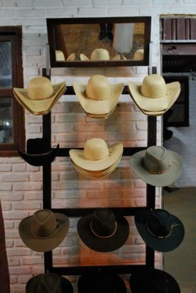 Rodeo night: sombreros for sale