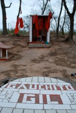 Roadside shrine to Gauchito Gil