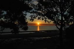 Sunset, Colonia campsite