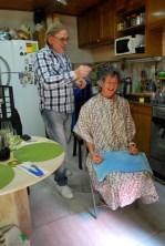Getting a haircut!