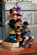 Hat seller, San Telmo, Buenos Aires.