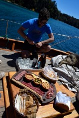 Sailboat picada lunch