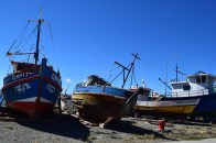 Fishing boats, Porvenir, Chile