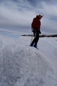 Callum ice-hiking