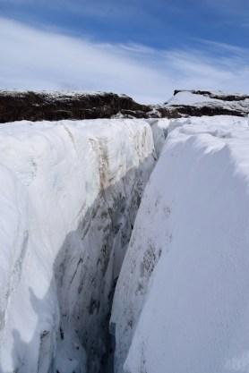 Crevasse, Castaño Overo glacier