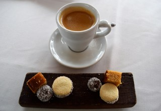 Coffee and petit fours.