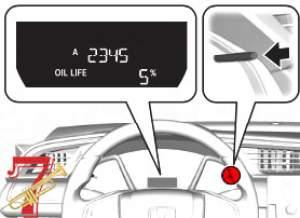 honda oil service maintenace reset knob