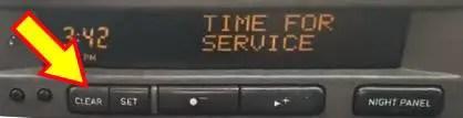 time for service minder light reset