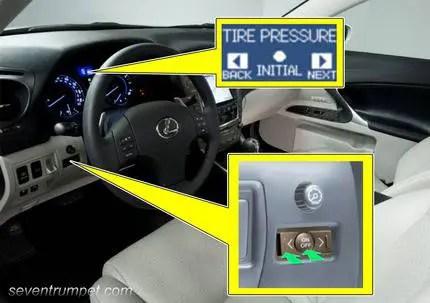 lexus tire pressure tpms light reset