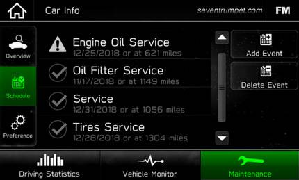tire rotation oil light reset