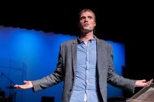 Gavin preaching