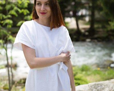 Zero waste ľanové šaty