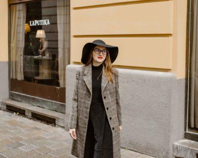 Károvaný kabát- IRIS