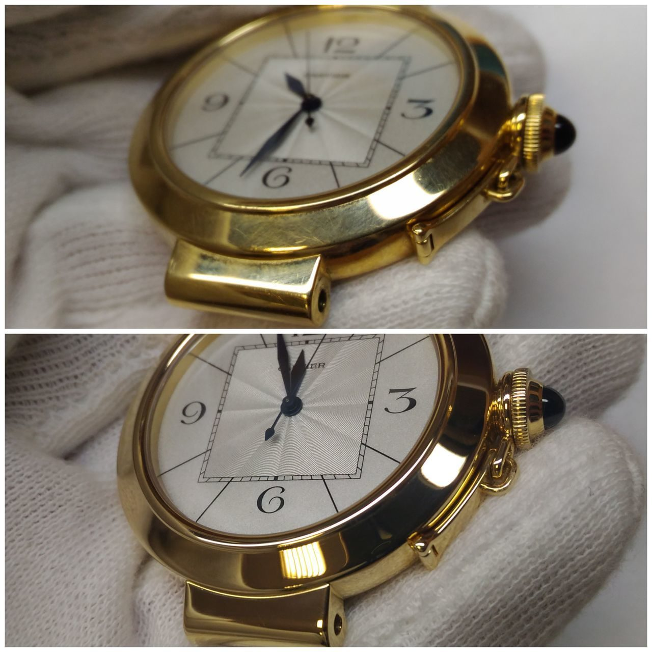 Polishing of golden watches