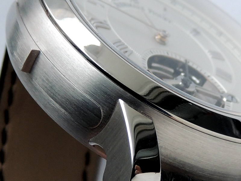 Polishing of steel watch