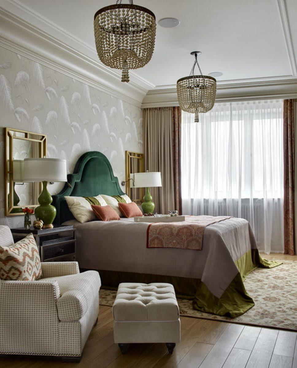 расстановка мебели в спальне дизайн фото