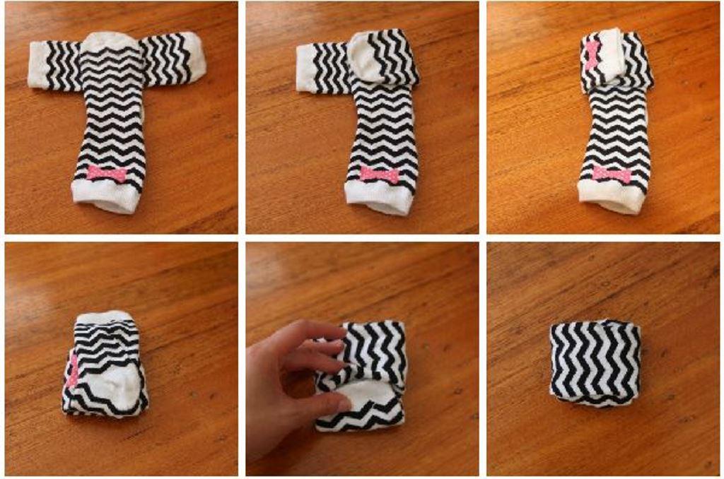 Cara melipat kaus kaki dalam koper