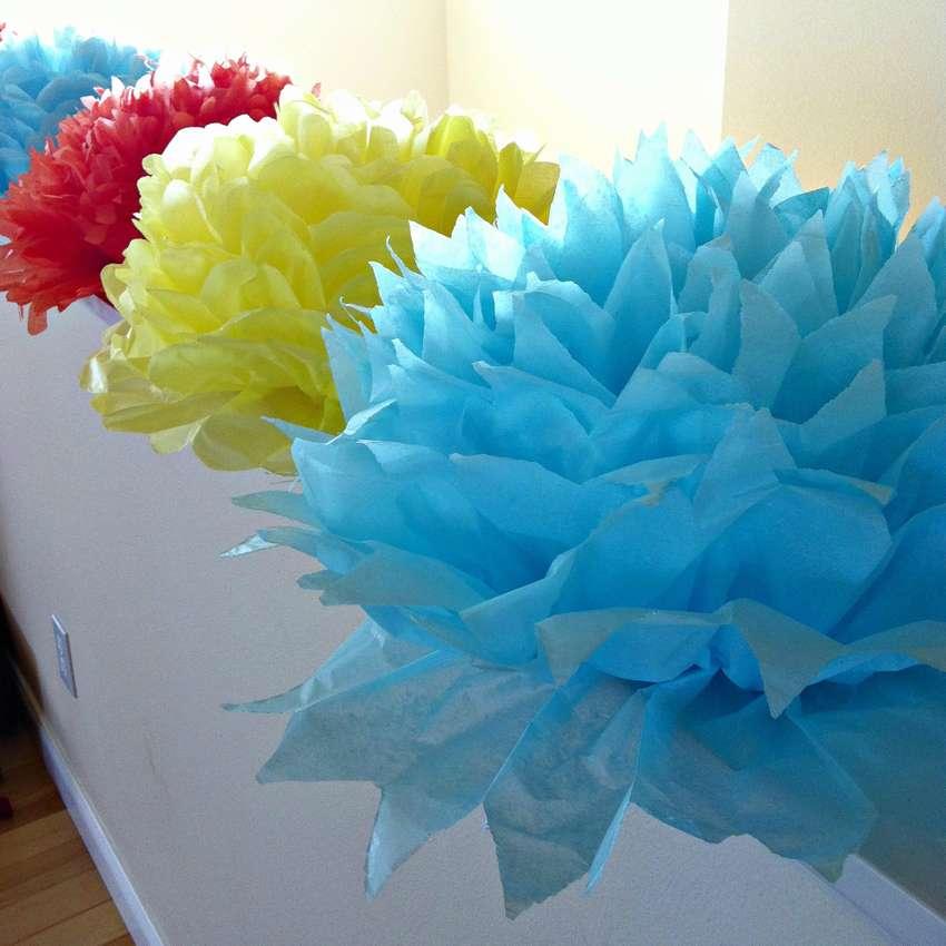 नैपकिन फोटो से फूल