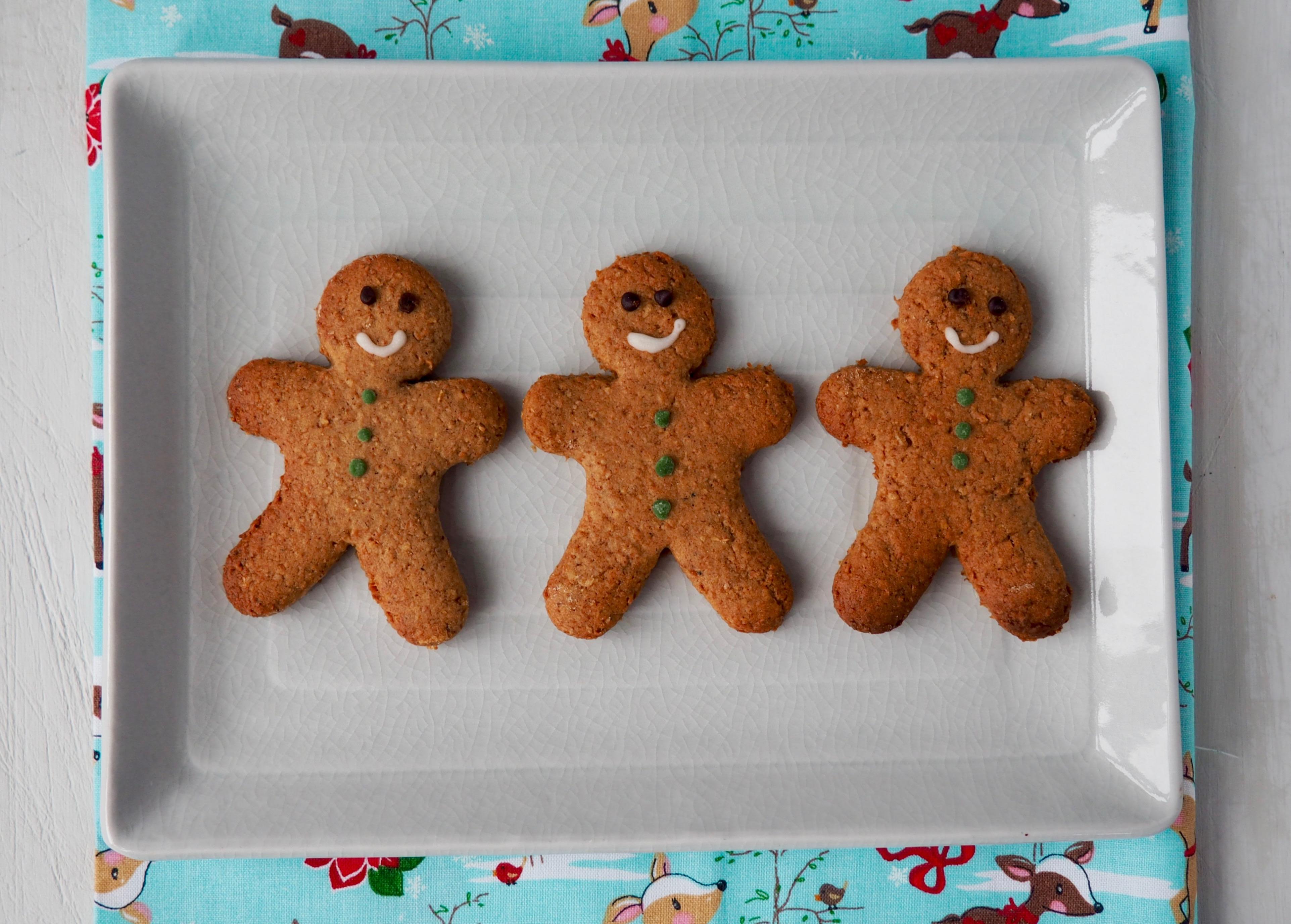 Healthier Gingerbread Men