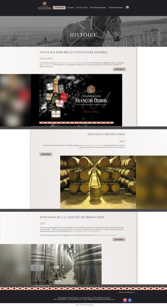 Champagne Francois Dubois histoire