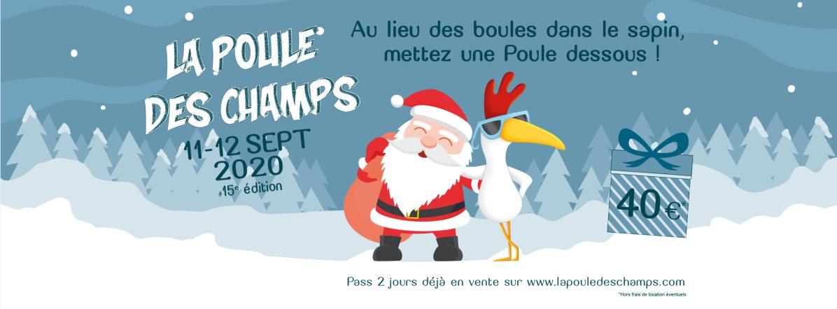 Offre Noël bandeau Facebook Poule des Champs